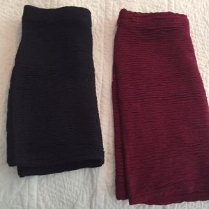Lot of Two: Forever21 Bandage Mini Skirts